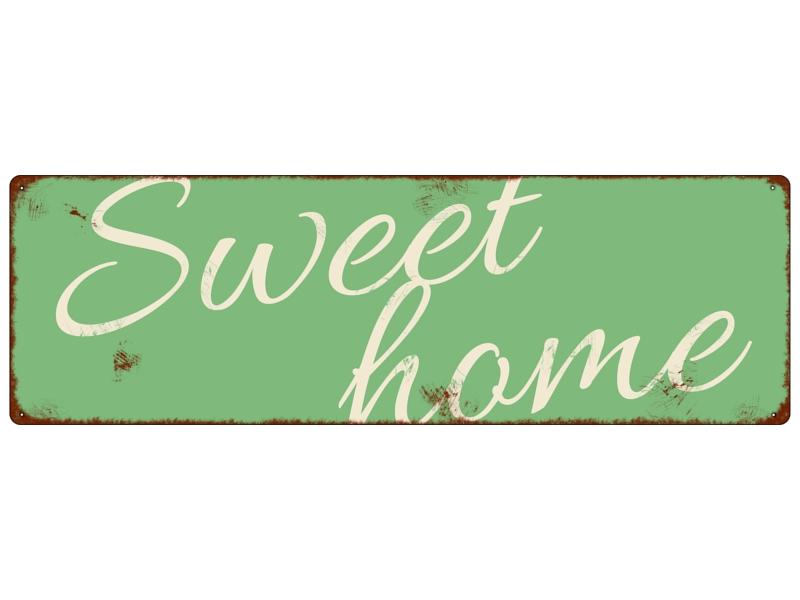 blechschild metallschild t rschild sweet home dekoschild. Black Bedroom Furniture Sets. Home Design Ideas