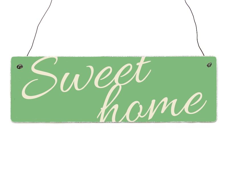 holzschild shabby vintage dekoschild sweet home t rschild. Black Bedroom Furniture Sets. Home Design Ideas