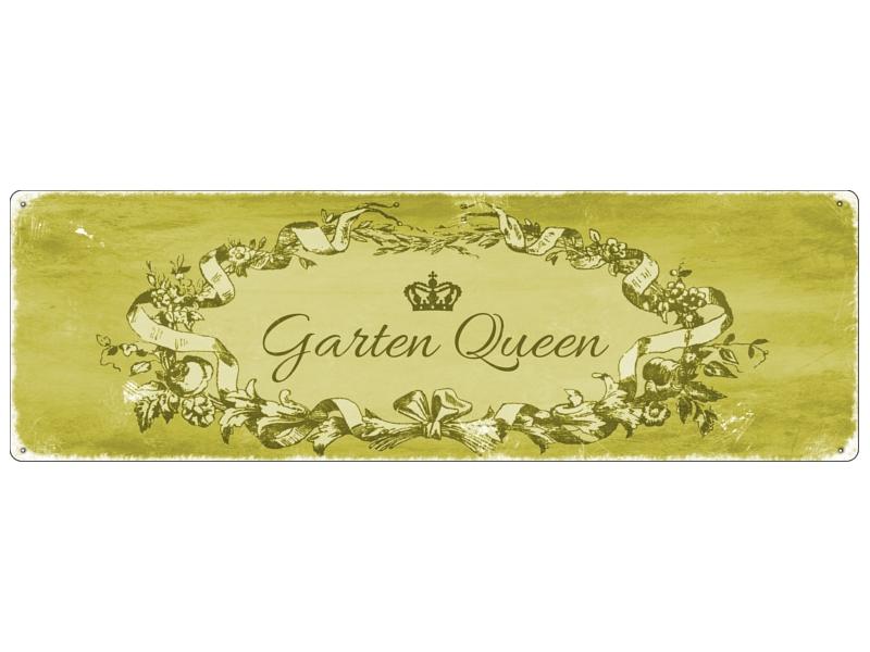 metallschild blechschild garten queen geschenk. Black Bedroom Furniture Sets. Home Design Ideas