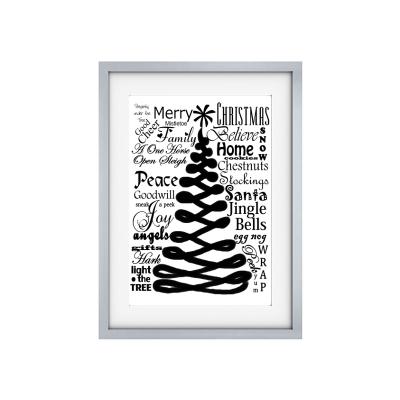 shabby vintage kunstdruck merry christmas poster. Black Bedroom Furniture Sets. Home Design Ideas