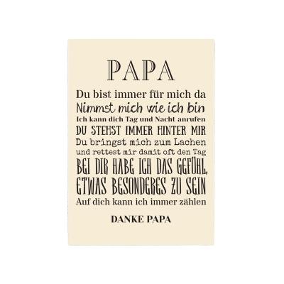 42x30cm xxl shabby deko holzschild papa geschenk vater familie vatert. Black Bedroom Furniture Sets. Home Design Ideas