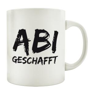 TASSE Kaffeebecher ABI GESCHAFFT Abitur Spruch Geschenk...