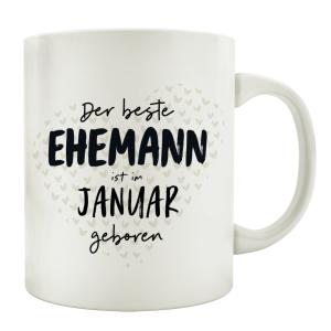 TASSE Kaffeebecher DER BESTE EHEMANN Monat Partner...