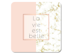 Interluxe LED Untersetzer - La vie est belle in Marmor &...