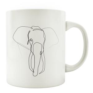 TASSE Kaffeebecher - Elefant - Line Art Lieblingstasse...