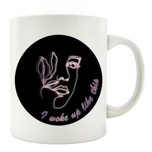 TASSE Kaffeebecher - I woke up like this - Line Art...