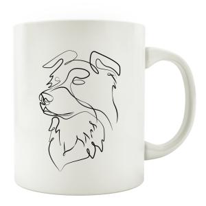 TASSE Kaffeebecher - Hund Line Art D - Hundeliebhaber...