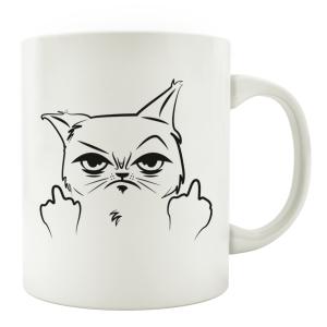 TASSE Kaffeebecher - Katze Fuck - Lieblingstasse,...
