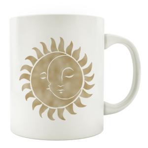 TASSE Kaffeebecher - Sonne Mond Gold - Lieblingstasse,...