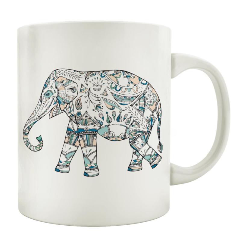 Tasse Kaffeebecher Elefant Doodle Geschenk Spruch Motiv Tiere