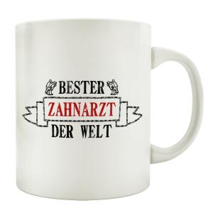 TASSE Kaffeebecher BESTER ZAHNARZT Geschenk Spruch Motiv...